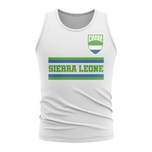 Sierra Leone Core Football Country Sleeveless Tee (White)