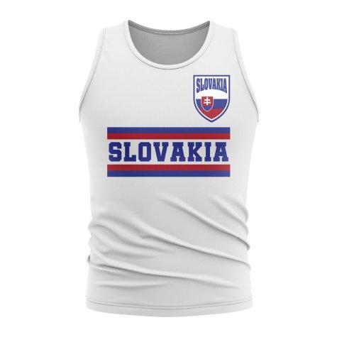 Slovakia Core Football Country Sleeveless Tee (White)