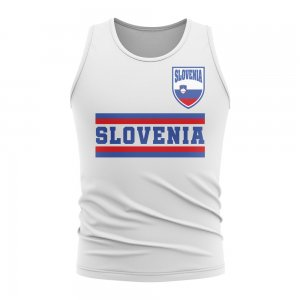 Slovenia Core Football Country Sleeveless Tee (White)