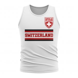 Switzerland Core Football Country Sleeveless Tee (White)