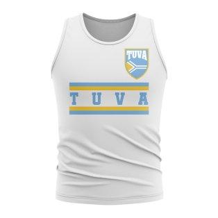 Tuva Core Football Country Sleeveless Tee (White)