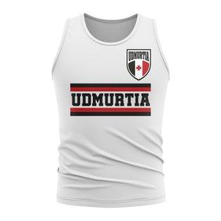 Udmurtia Core Football Country Sleeveless Tee (White)