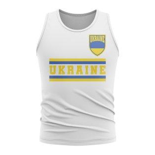 Ukraine Core Football Country Sleeveless Tee (White)