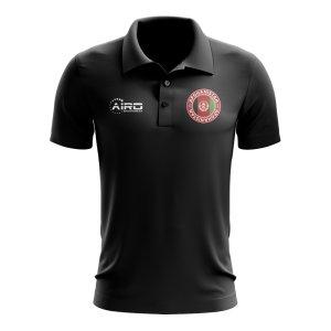 Afghanistan Football Polo Shirt (Black)