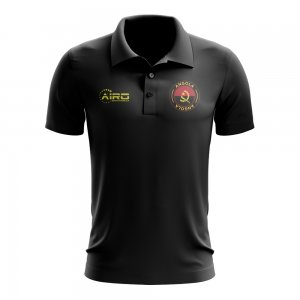 Angola Football Polo Shirt (Black)