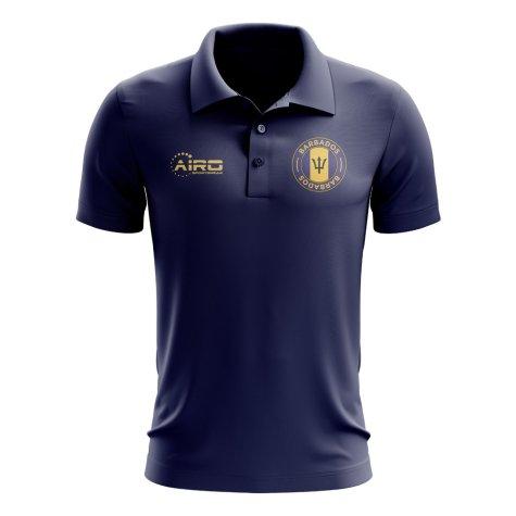 Barbados Football Polo Shirt (Navy)