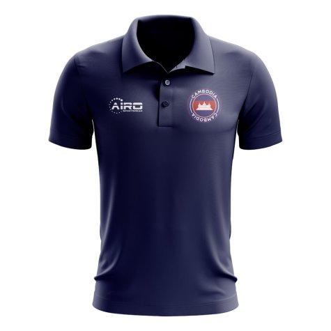 Cambodia Football Polo Shirt (Navy)