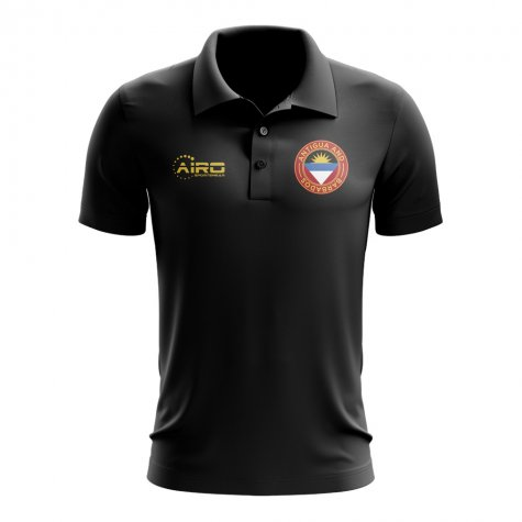 Antigua and Barbados Football Polo Shirt (Black)