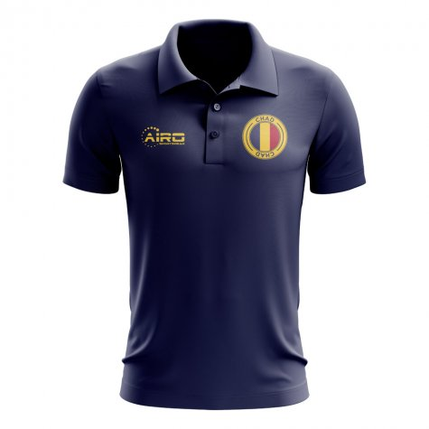 Chad Football Polo Shirt (Navy)