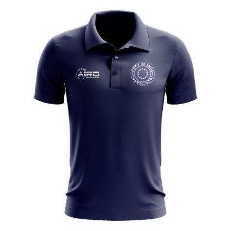 Cook Islands Football Polo Shirt (Navy)