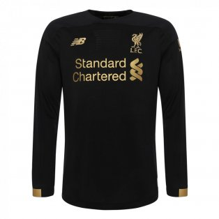 2019-2020 Liverpool Home Long Sleeve Goalkeeper Shirt (Kids)