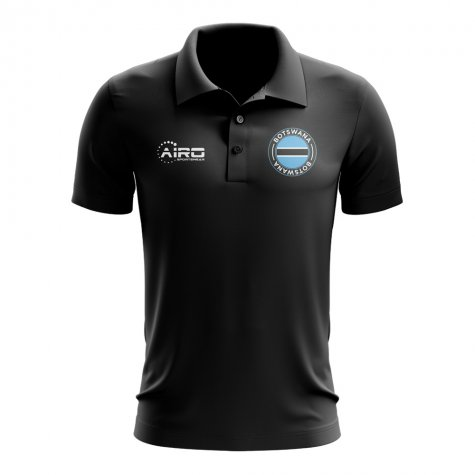 Botswana Football Polo Shirt (Black)