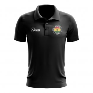Ghana Football Polo Shirt (Black)