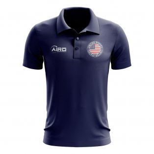 United States Football Polo Shirt (Navy)