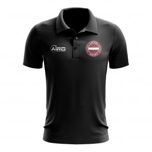 Latvia Football Polo Shirt (Black)