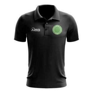 Libya Football Polo Shirt (Black)