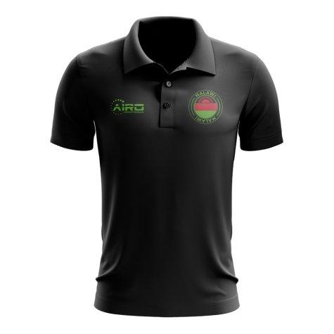 Malawi Football Polo Shirt (Black)