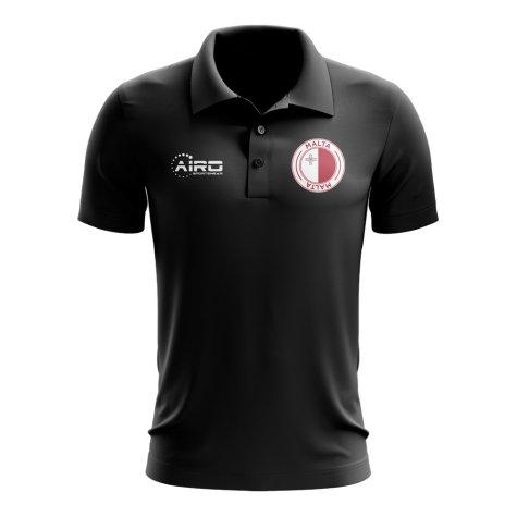 Malta Football Polo Shirt (Black)