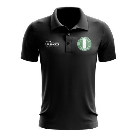 Nigeria Football Polo Shirt (Black)