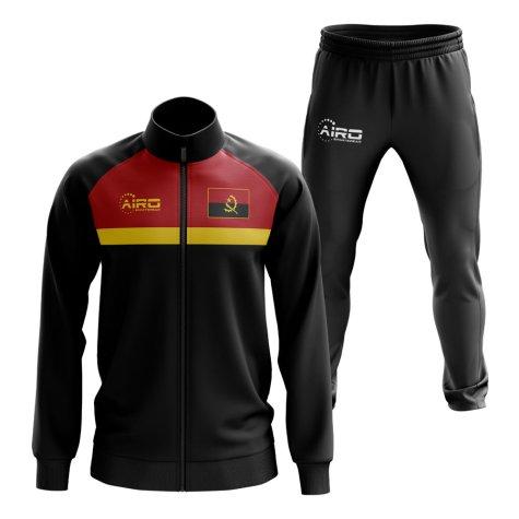 Angola Concept Football Tracksuit (Black)