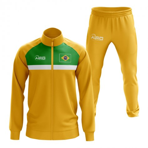 Brazil Concept Football Tracksuit (Yellow)