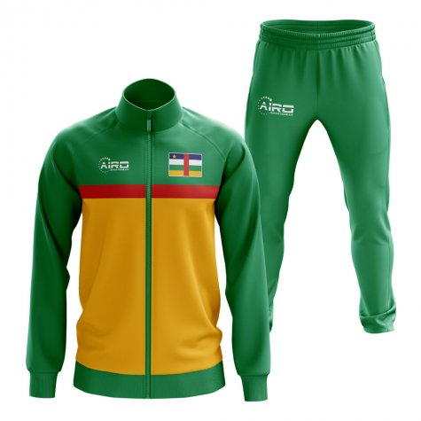Central African Republic Concept Football Tracksuit (Green)