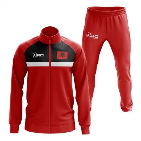 Albania Concept Football Tracksuit (Red)