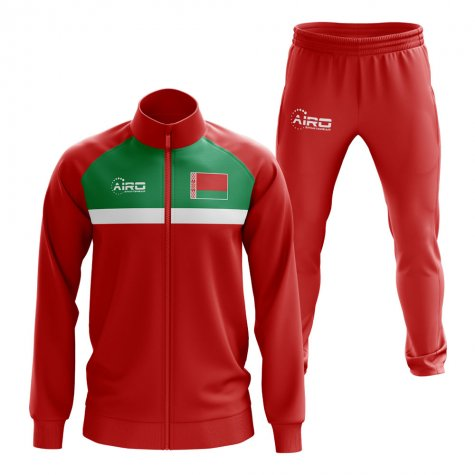 Belarus Concept Football Tracksuit (Red)