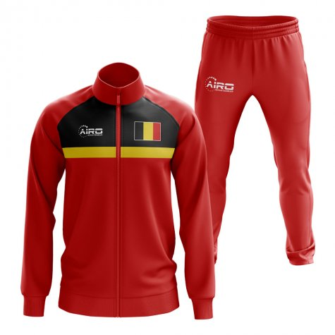 Belgium Concept Football Tracksuit (Red)