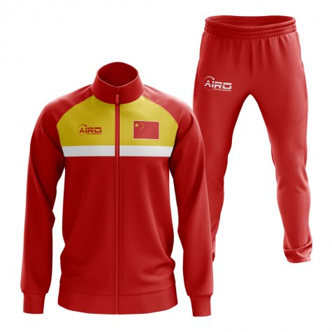 China Concept Football Tracksuit (Red)