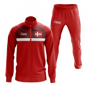 Denmark Concept Football Tracksuit (Red)