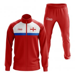 England Concept Football Tracksuit (Red)