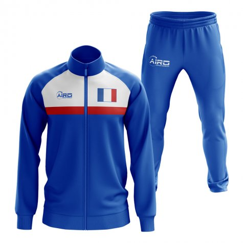 France Concept Football Tracksuit (Royal)