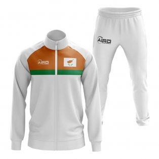 Cyprus Concept Football Tracksuit (White)