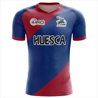 2020-2021 SD Huesca Home Concept Football Shirt