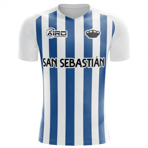 2019-2020 Real Sociedad Home Concept Football Shirt - Little Boys