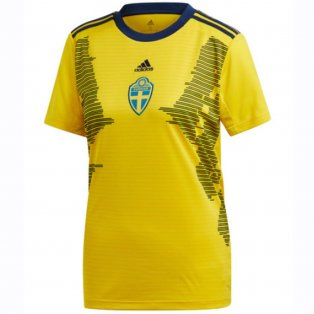 2019-2020 Sweden Home Adidas Womens Shirt