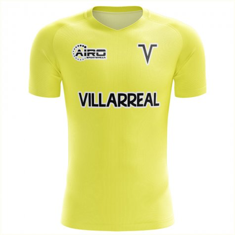 2020-2021 Villarreal Concept Training Shirt (Yellow) - Womens