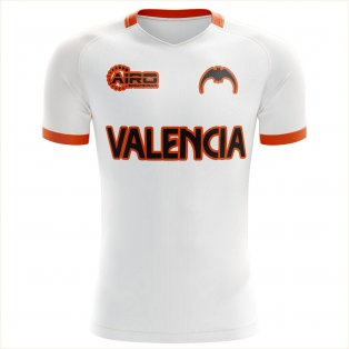 2020-2021 Valencia Home Concept Football Shirt - Womens