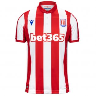 2019-2020 Stoke City Macron Home Football Shirt