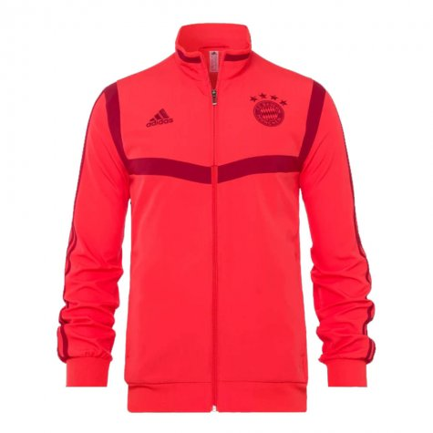 2019-2020 Bayern Munich Adidas Presentation Jacket (Red) - Kids