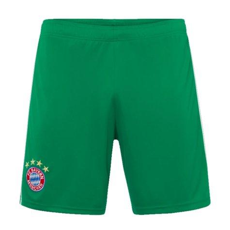 2019-2020 Bayern Munich Adidas Home Goalkeeper Shorts (Green) - Kids