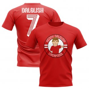 Kenny Dalglish Liverpool Illustration T-Shirt (Red)