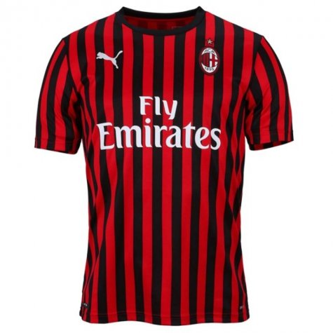 2019-2020 AC Milan Puma Home Football Shirt