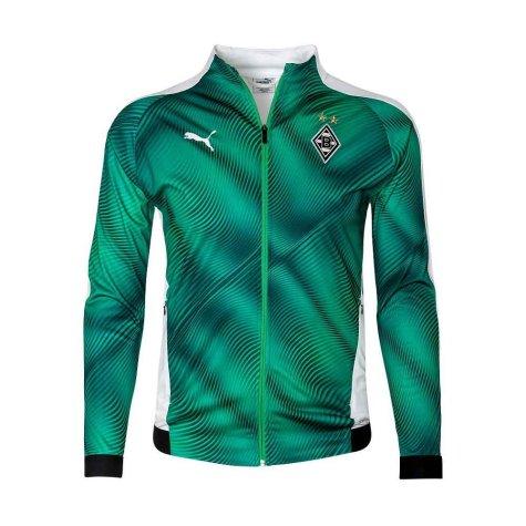 2019-2020 Borussia MGB Puma Stadium Jacket (Green)