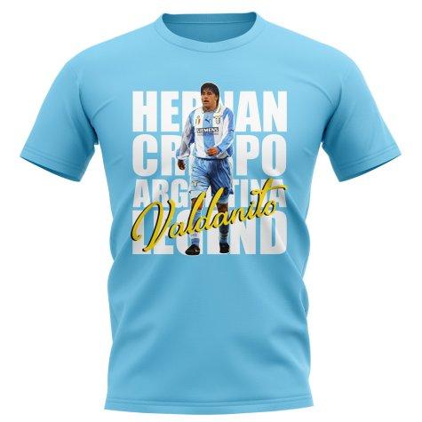 Hernan Crespo Lazio Player T-Shirt (Sky Blue)