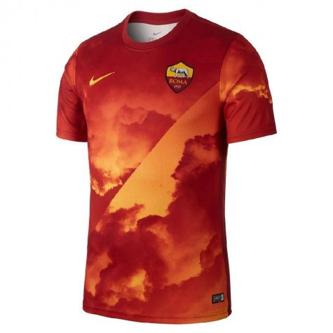 2019-2020 AS Roma Nike Pre-Match Training Jersey (Gold) - Kids