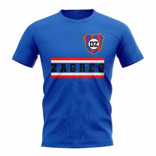 Dinamo Zagreb Core Football Club T-Shirt (Royal)
