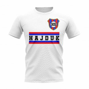 HNK Hajduk Split Core Football Club T-Shirt (White)
