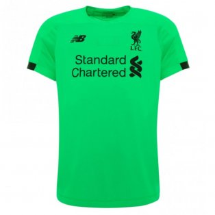 2019-2020 Liverpool Away Short Sleeve Goalkeeper Shirt (Kids)